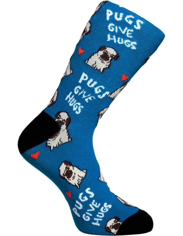 Pugs Give Hugs Crew Sock image 3