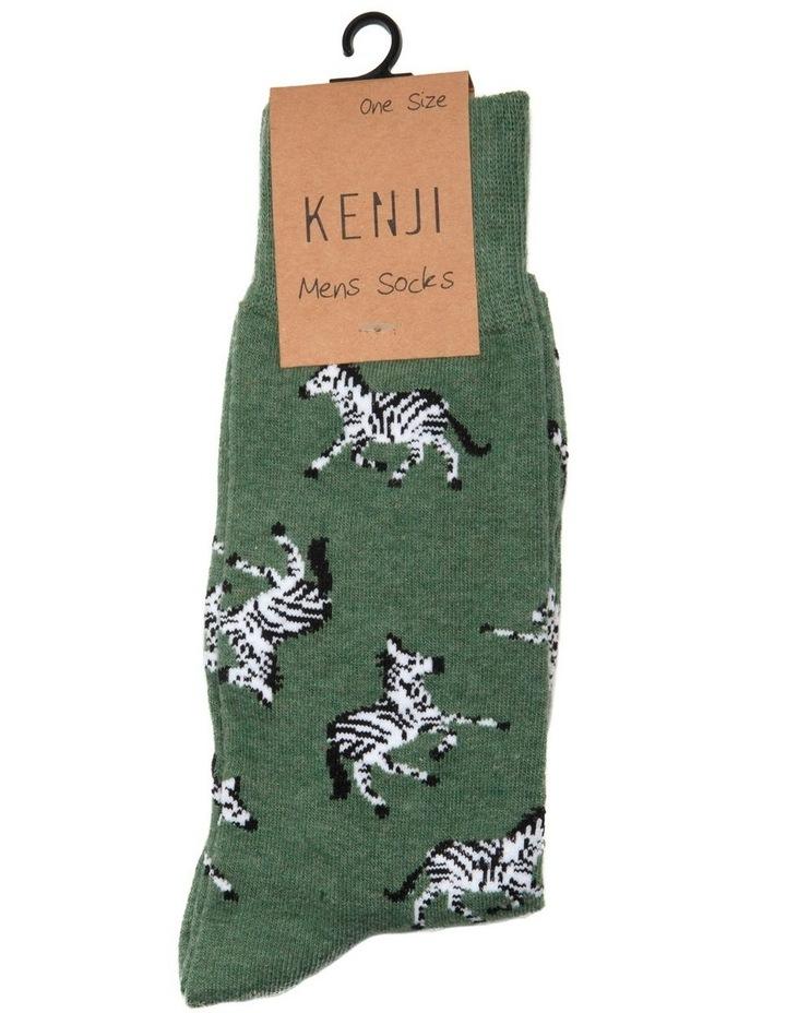 Zebra Crew Sock image 2