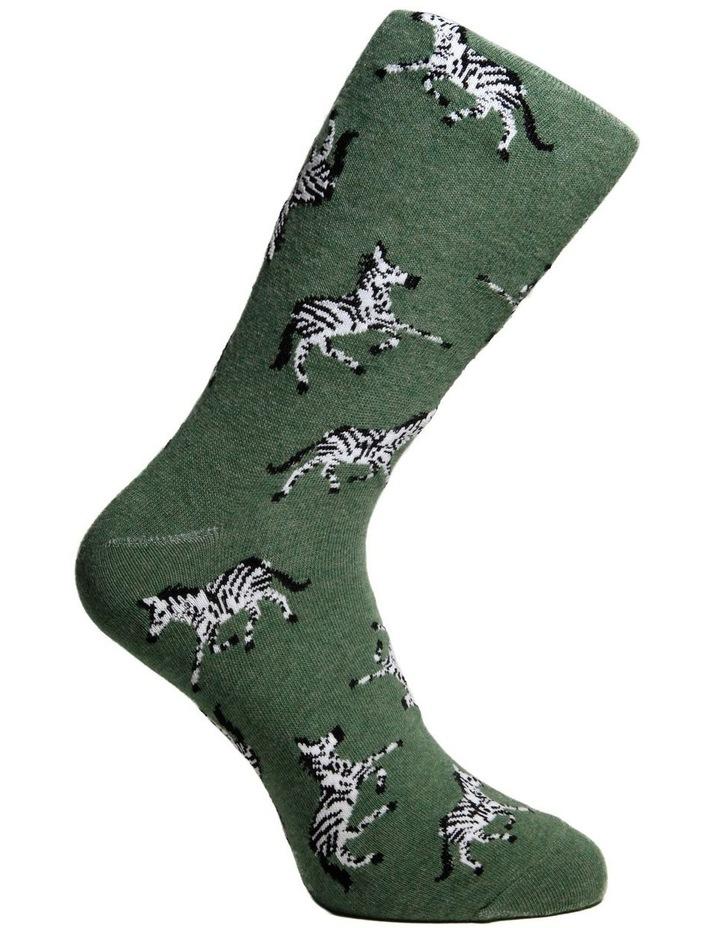 Zebra Crew Sock image 3