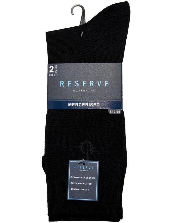 2 Pack Plain Mercerised Business Socks image 2