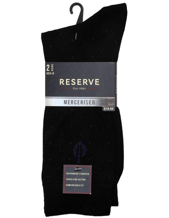 2 Pack Pin Stripe Mercerised Business Socks image 1