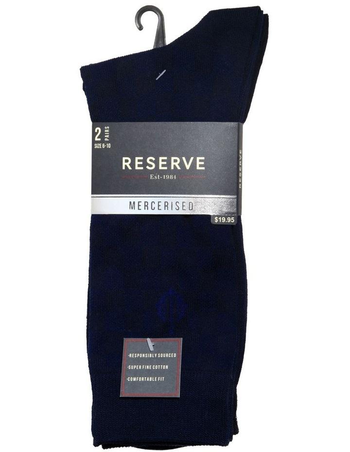 2 Pack Diagonal Mercerised Business Socks image 1