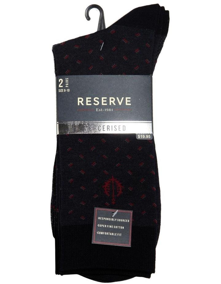 2 Pack Geo Mercerised Business Socks image 2
