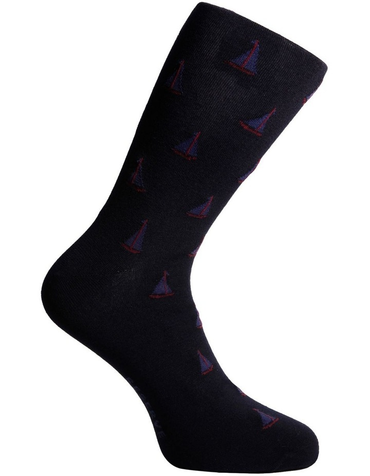 3 Pack Luxe Nautical Business Socks image 5