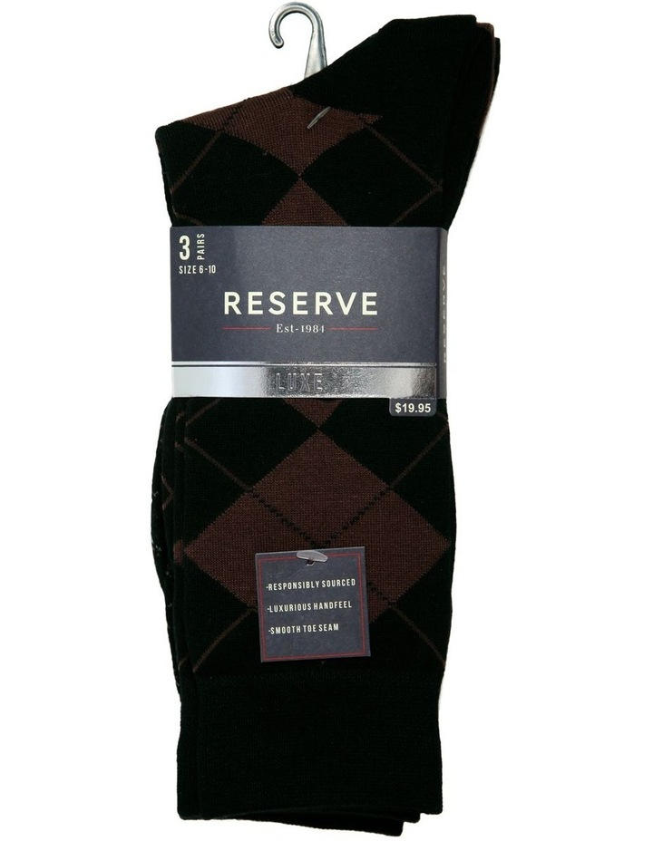 3 Pack Luxe Argyle Business Socks image 2