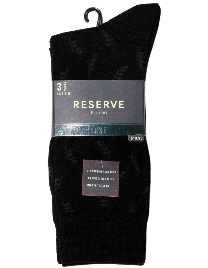 3 Pack Luxe Floral Business Socks image 2