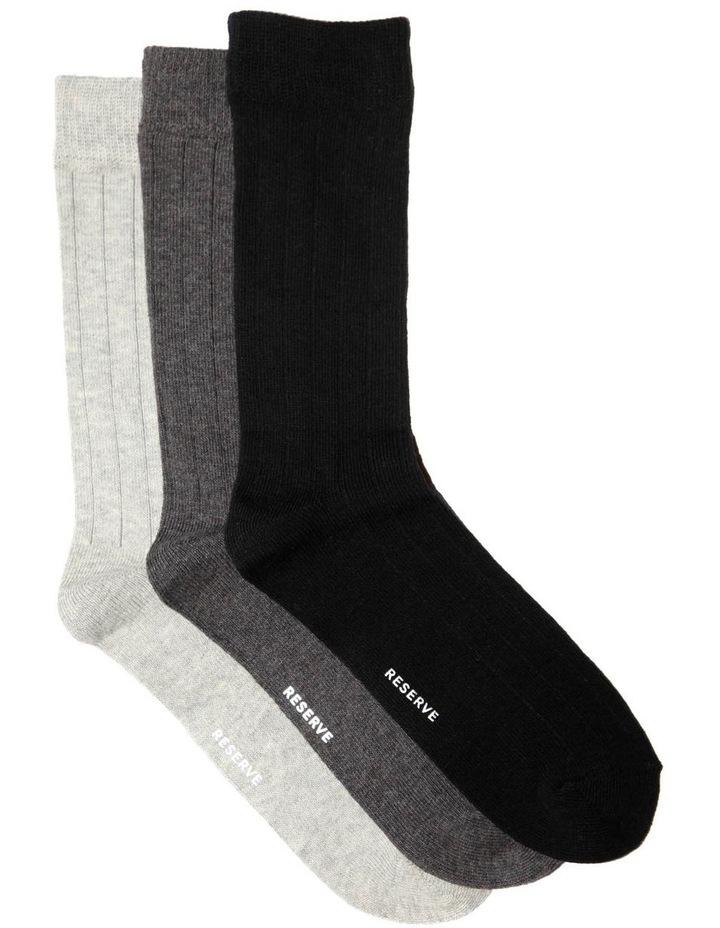 3 Pack Rib Jean Sock image 1