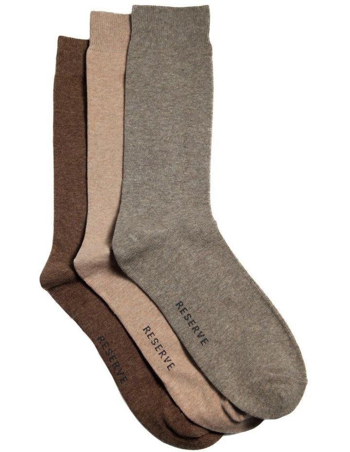 3 Pack Plain Cotton Sock image 1