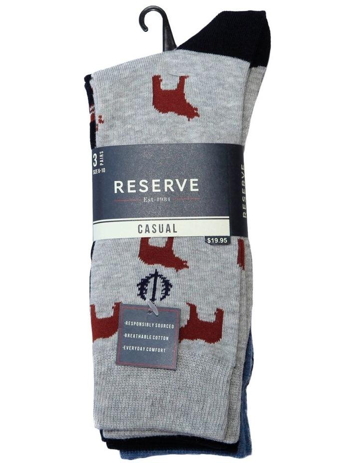 3 Pack Fairisle Animals Cotton Sock image 2