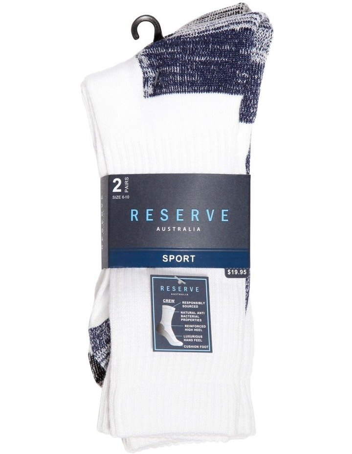 2 Pack Bamboo Sports Crew Sock image 2