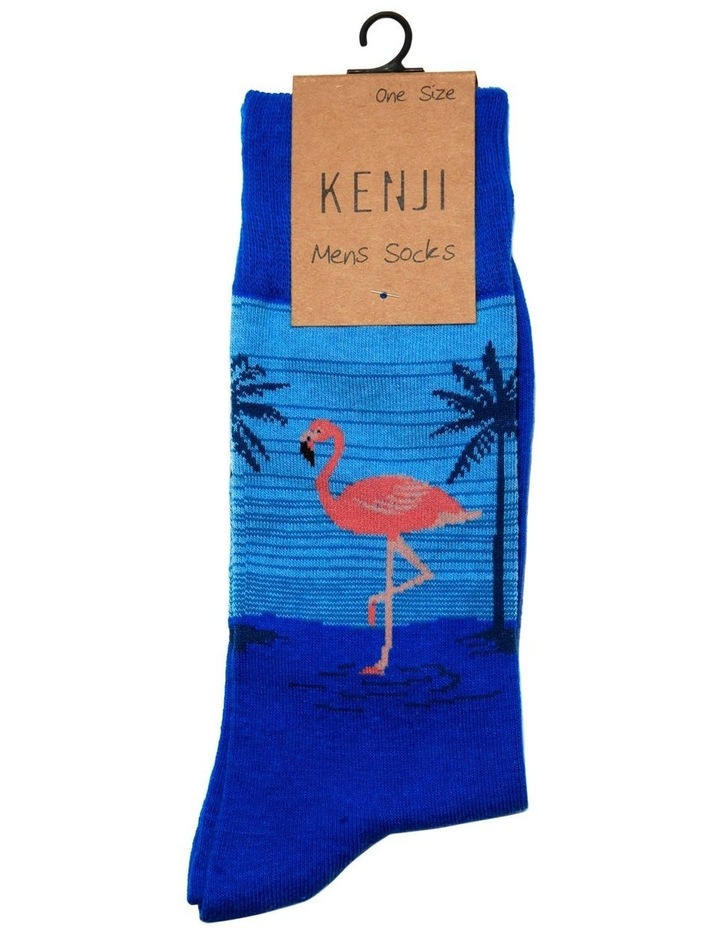 Flamingo Landscape Crew Sock image 2