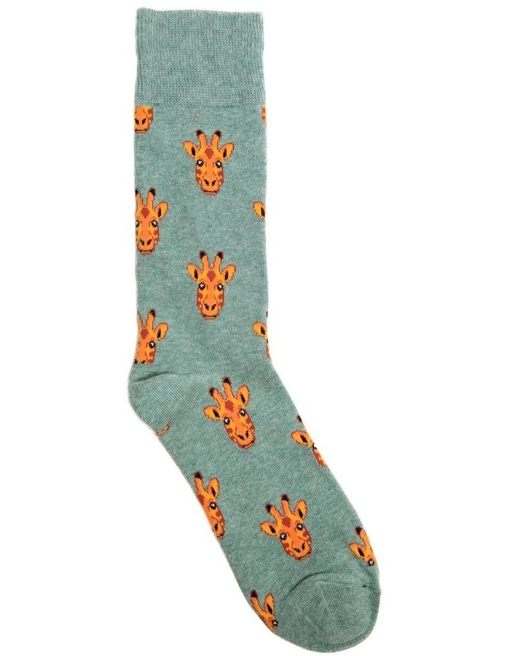 Giraffe Face Crew Sock image 1