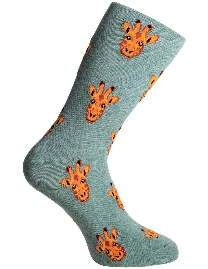 Giraffe Face Crew Sock image 3