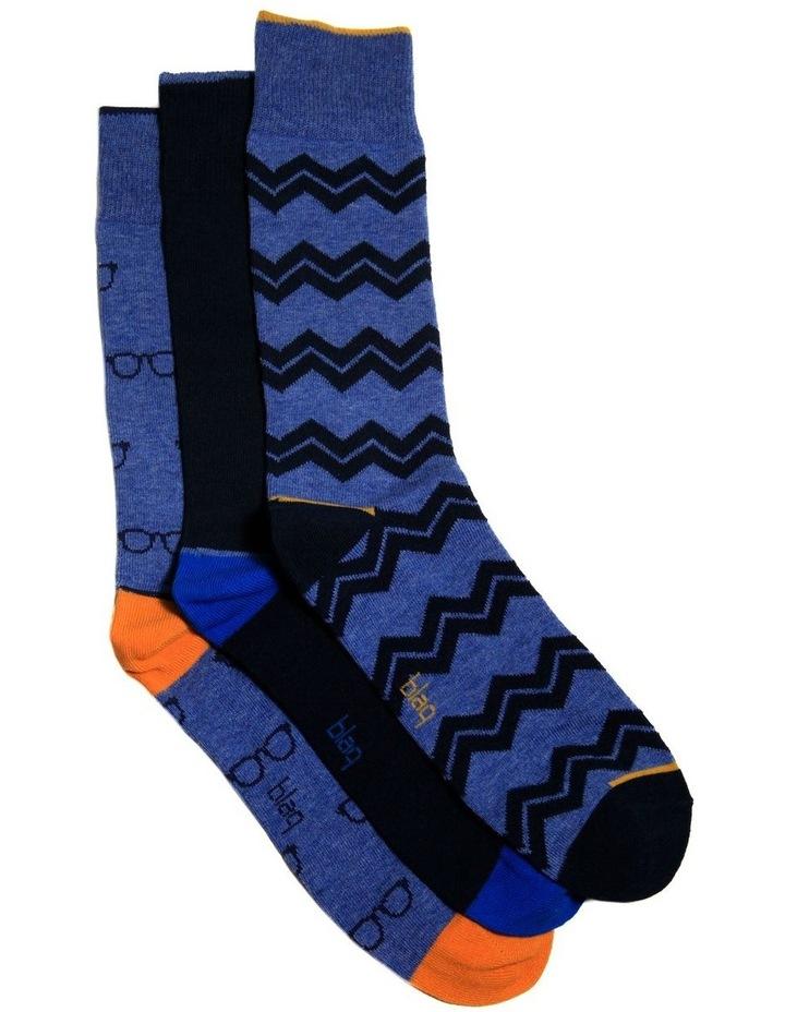 3 Pack Zig Zag Gift Pack Socks image 1