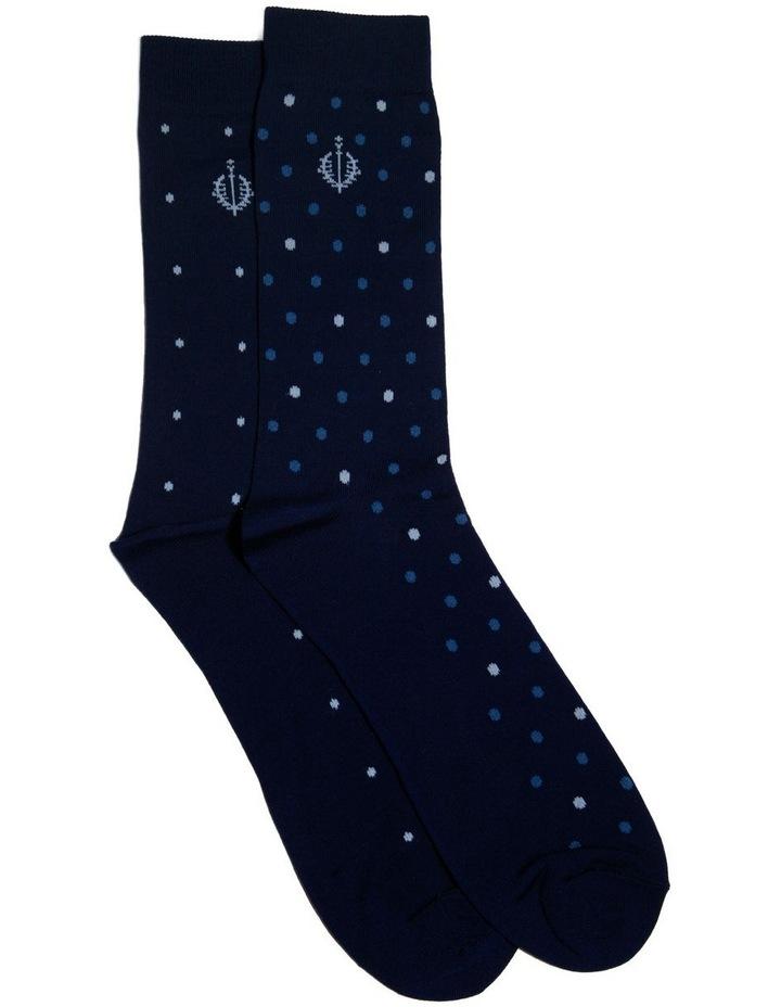 2 Pack Modern Mercerised Business Socks image 1