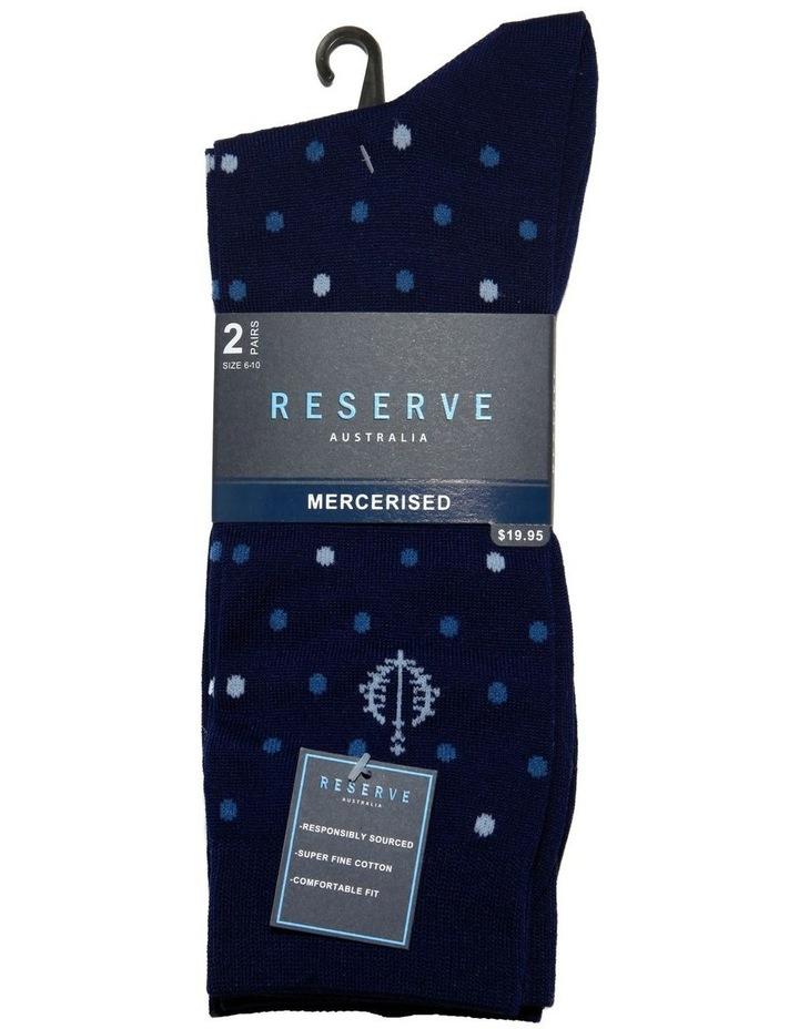 2 Pack Modern Mercerised Business Socks image 2