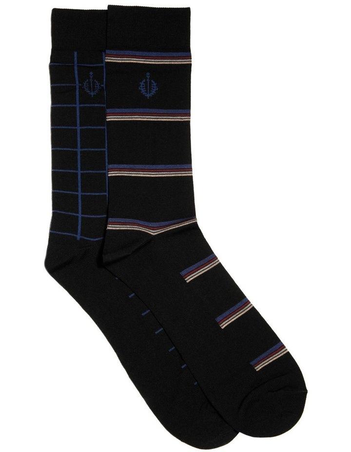 2 Pack Network Mercerised Business Socks image 1