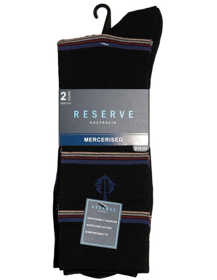 2 Pack Network Mercerised Business Socks image 2