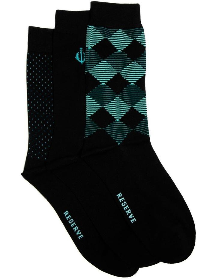 3 Pack Luxe Modern Argyle Business Socks image 1