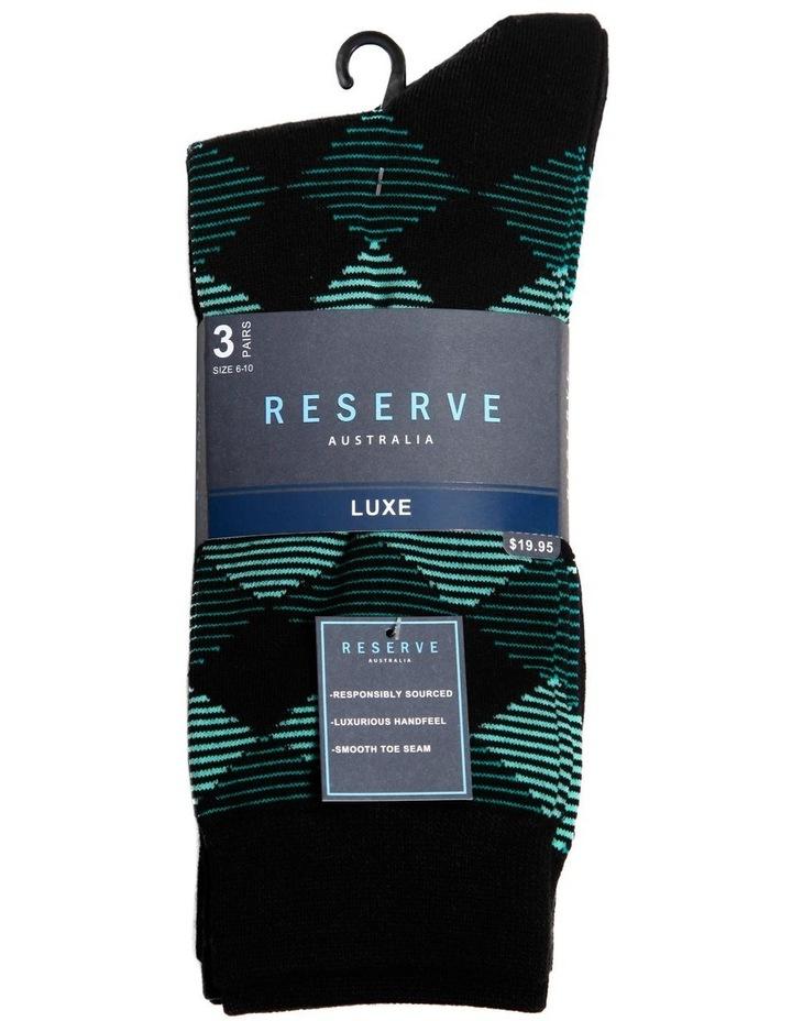 3 Pack Luxe Modern Argyle Business Socks image 2