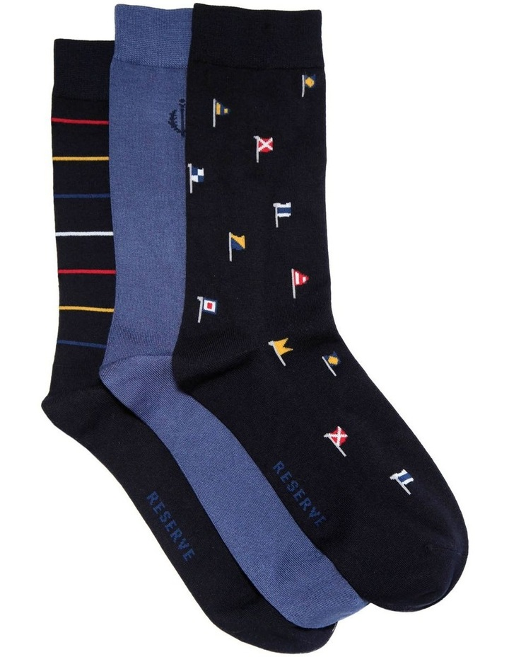3 Pack Luxe Flags Business Socks image 1