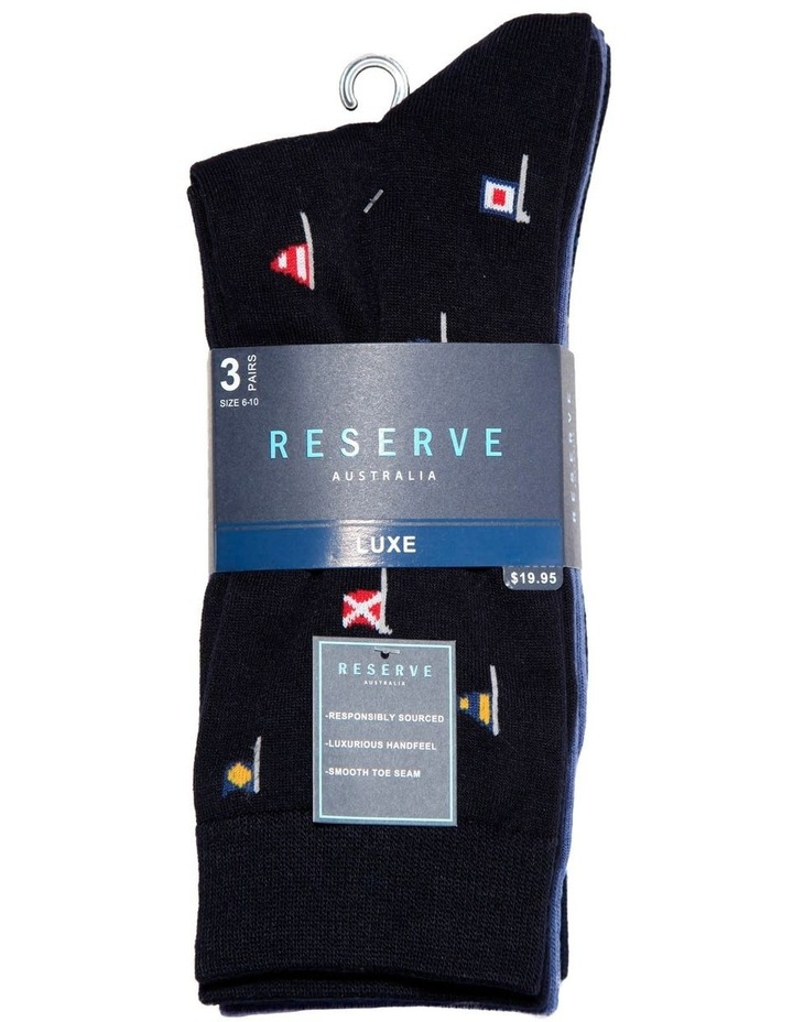 3 Pack Luxe Flags Business Socks image 2
