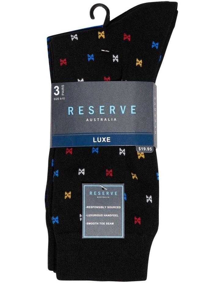 3 PK Luxe Neat Business Socks image 2