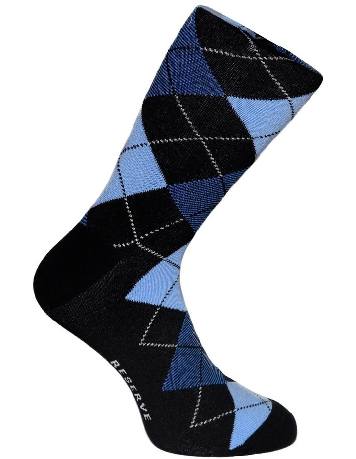 3 Pack Fashion Cotton Sock - Argyle image 3