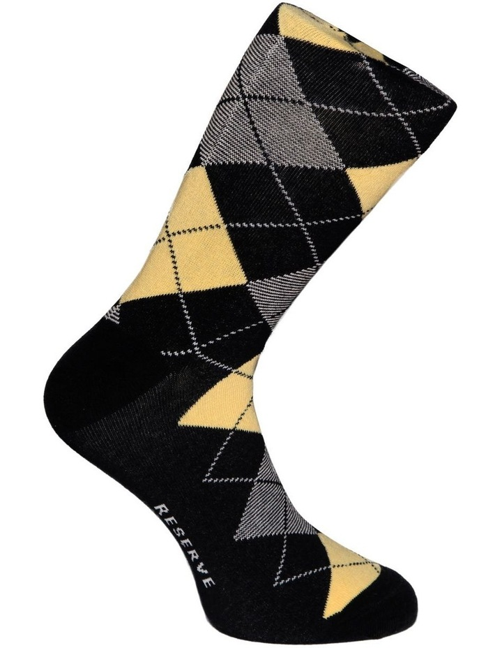 3 Pack Fashion Cotton Sock - Argyle image 4