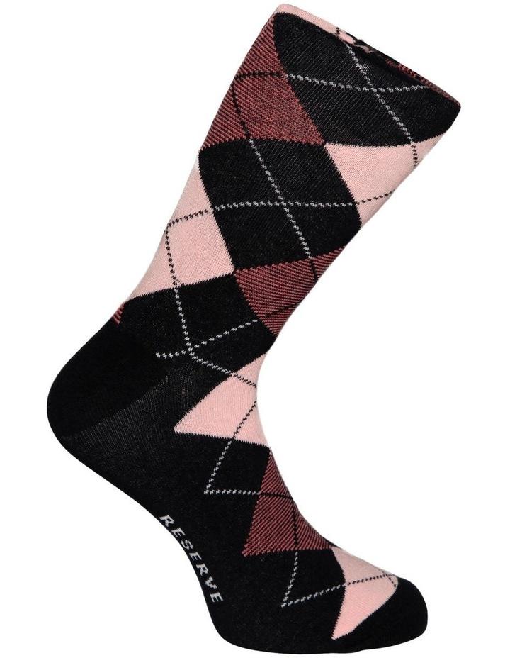 3 Pack Fashion Cotton Sock - Argyle image 5