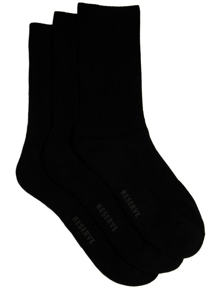 3 Pack Plain Comfort Sock image 1