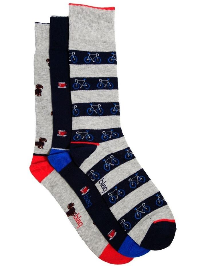3 Pack Hipster Gift Pack Socks image 1