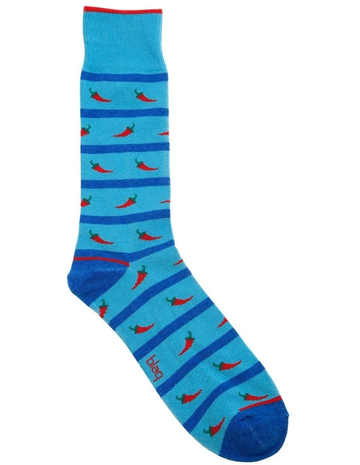 Chili Stripe Fashion Sock image 1