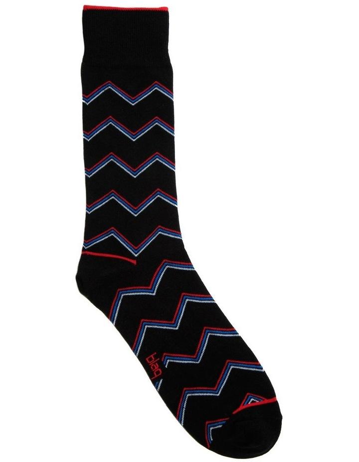 Zigzag Stripe Business Sock image 1