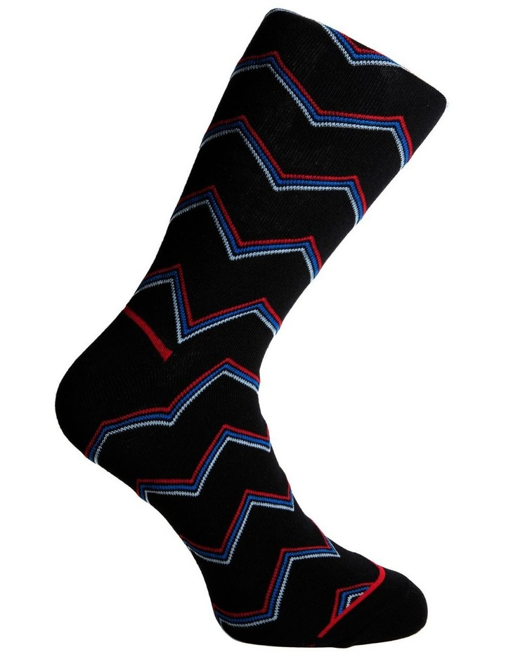 Zigzag Stripe Business Sock image 3