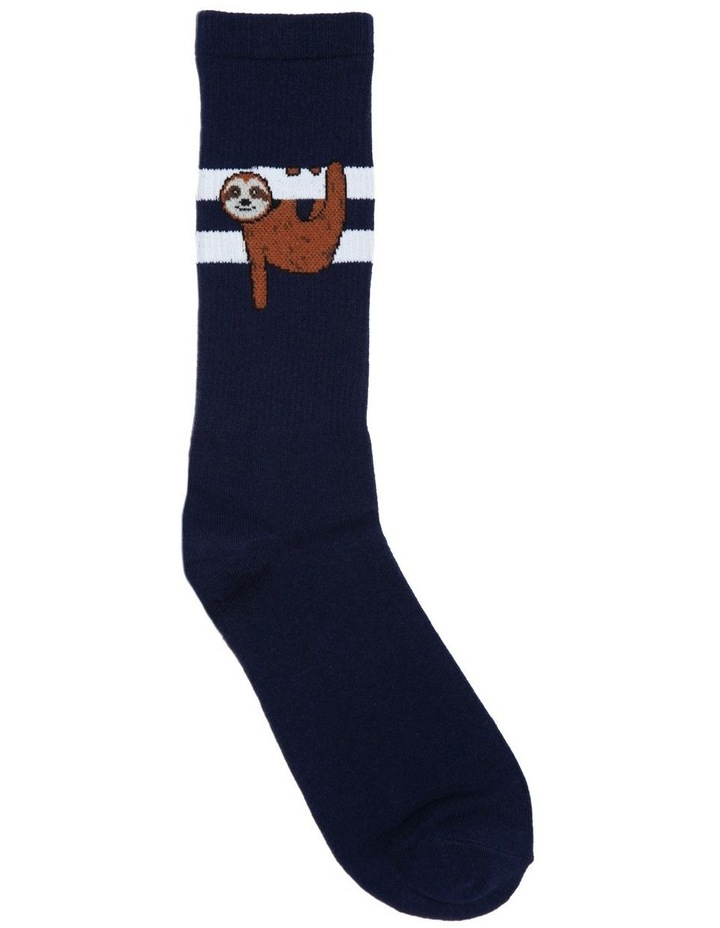 Sloth Stripe Sport Sock image 1