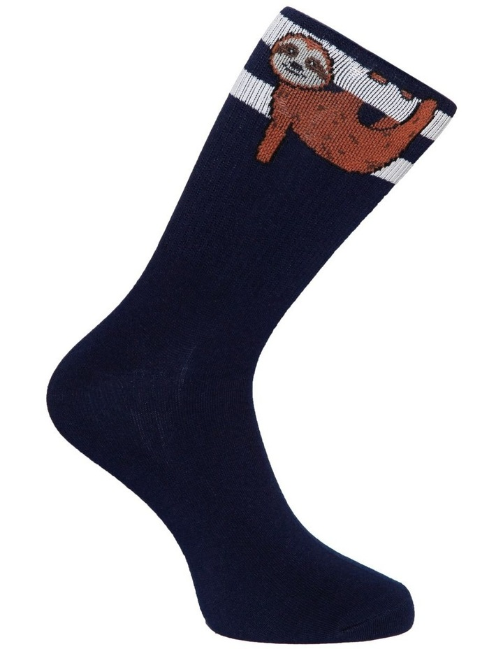 Sloth Stripe Sport Sock image 3