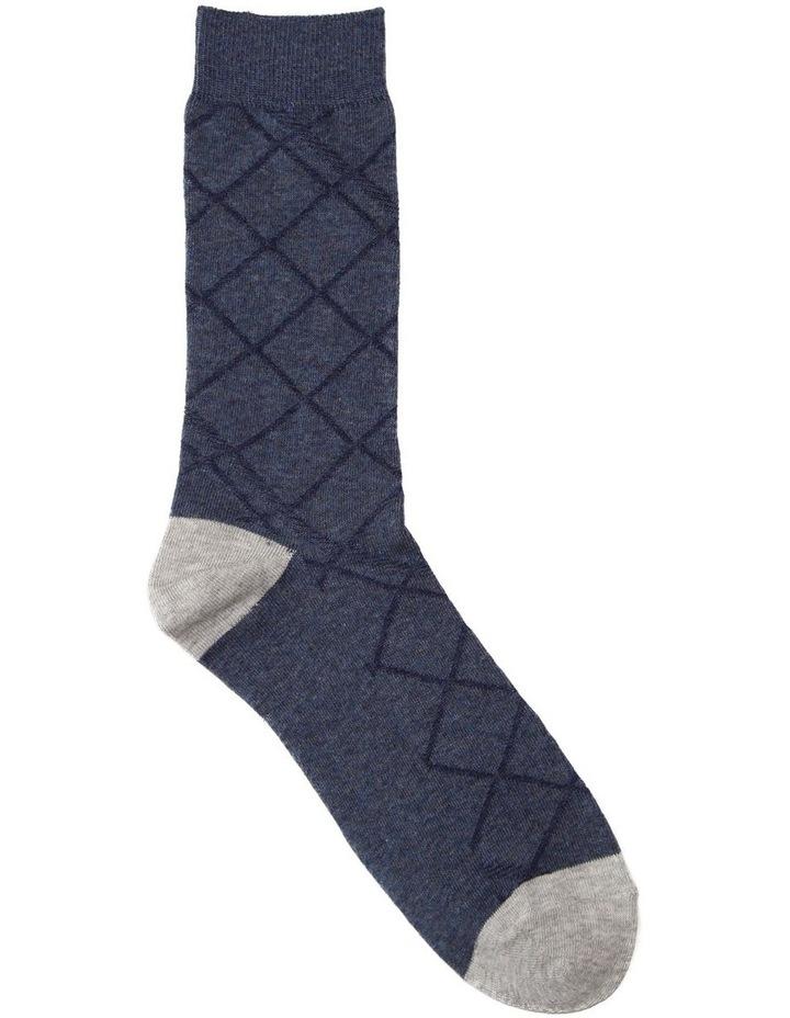 Textured Diamonds Cotton Sock image 1