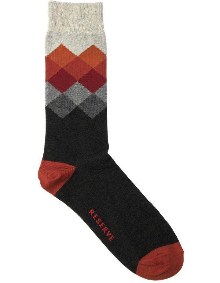 Modern Argyle Cotton Socks image 1