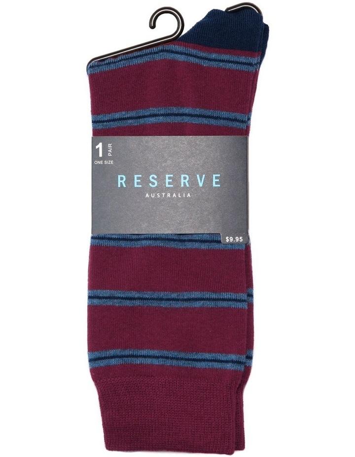 Triple Stripe Cotton Socks image 2
