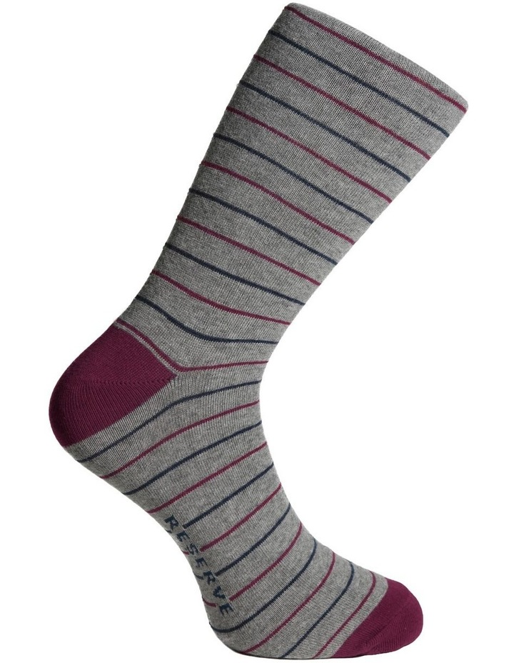 Fine Stripe Cotton Socks image 3
