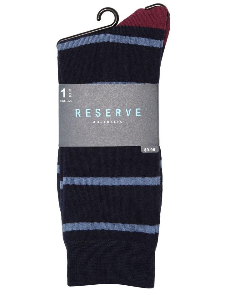 Spaced Stripe Cotton Socks image 2
