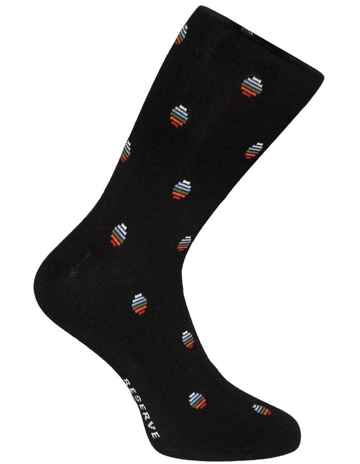 Luxe Pixel Spot Bamboo Socks image 2