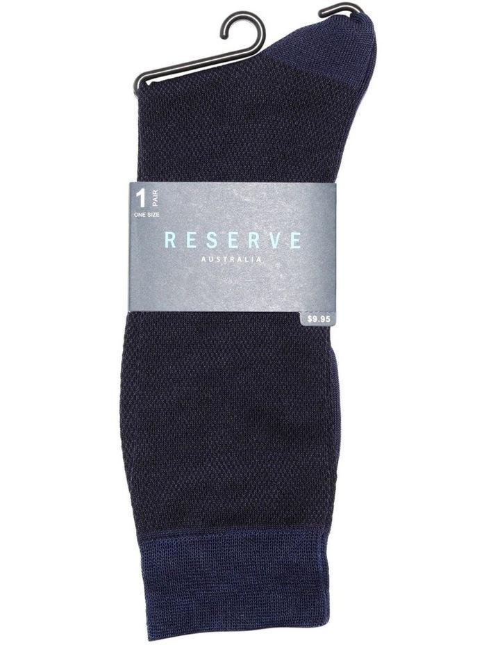 Textured Mercerised Cotton Socks image 2