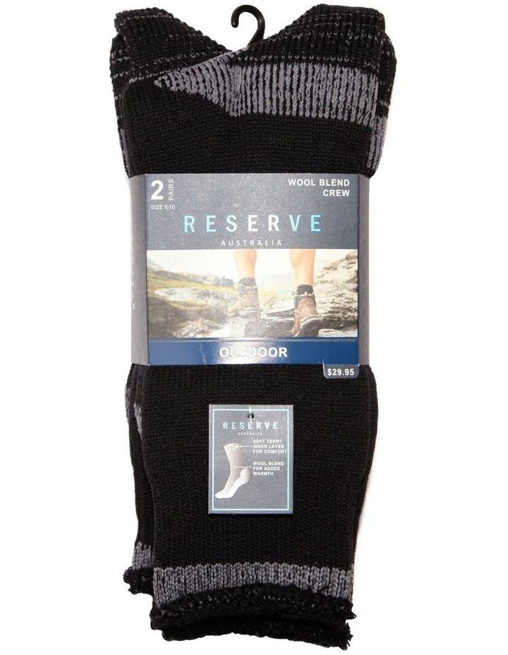 2 Pack Wool Outdoor Sock image 2