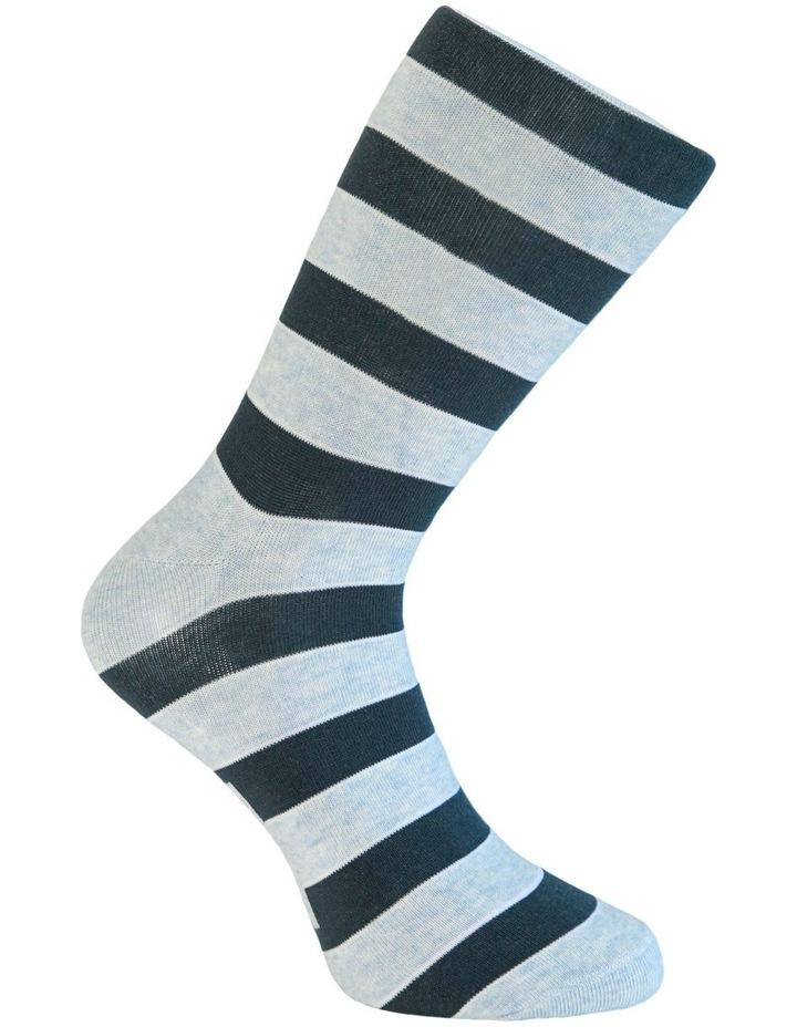 3 Pack Cotton Blockstripe Socks image 5
