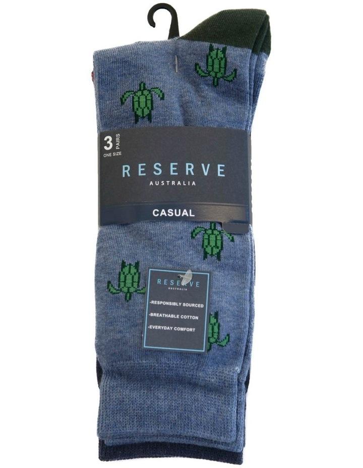 3 Pack Cotton Maritime Socks image 2