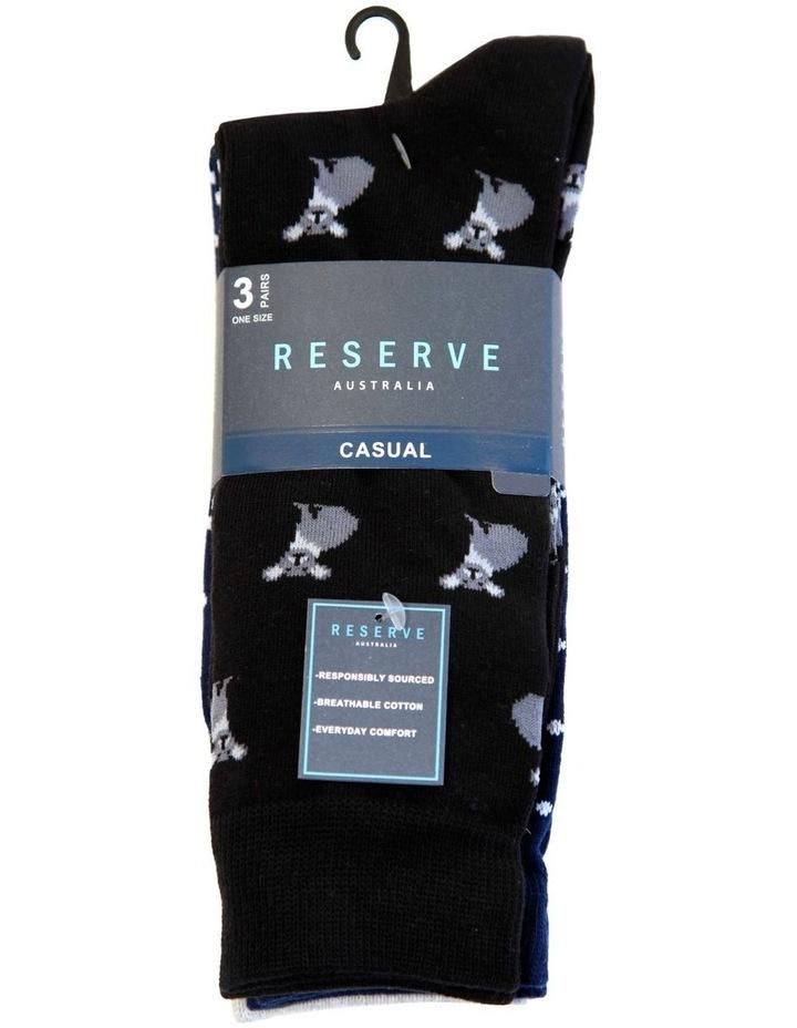 3 Pack Cotton Australian Socks image 2