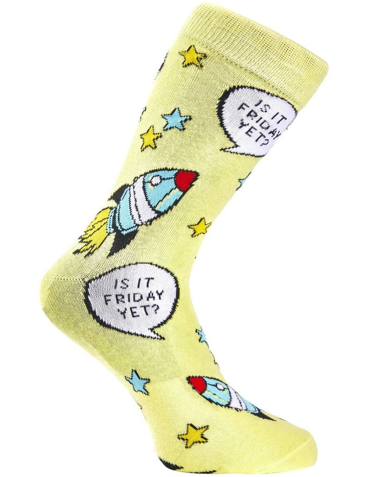 Is It Friday Cotton Sock image 3