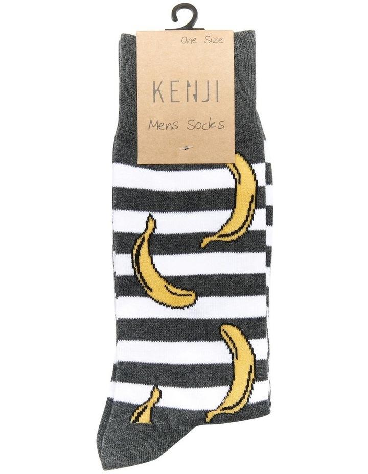 Stripey Banana Cotton Sock image 2